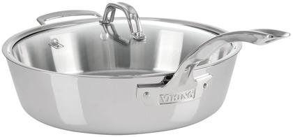 Viking Viking Contemporary Saute Pan Mirror Finish with Lid, 4.8 quart,