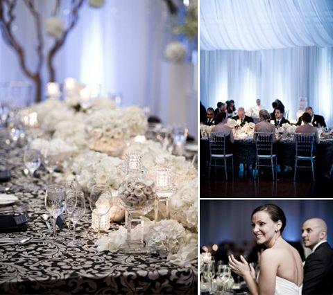 www.valencienne.com  Always so pretty. Black and white formal wedding at The Carlu, Toronto! Now for a stunning Valencienne Bespoke  #thecarlu #concerthall #wedding