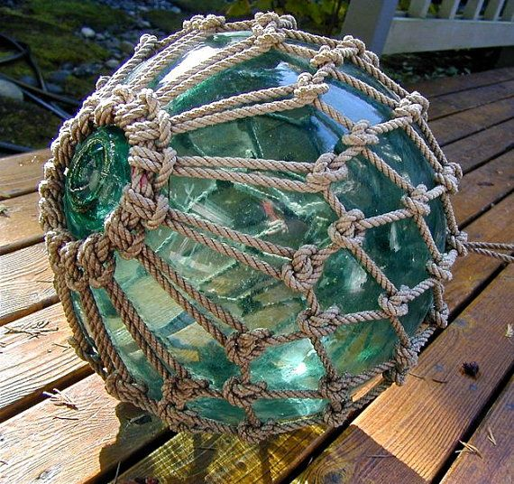 17 best ideas about glass floats on pinterest christmas for Fishing net floats