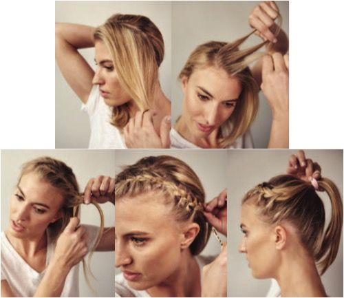 Keep your hair in place on race-day with this cute 'do!