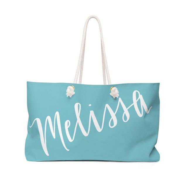 acc9e7470d5ee Set of Large Bridesmaid Tote Bags Personalized With Name - Teal ...