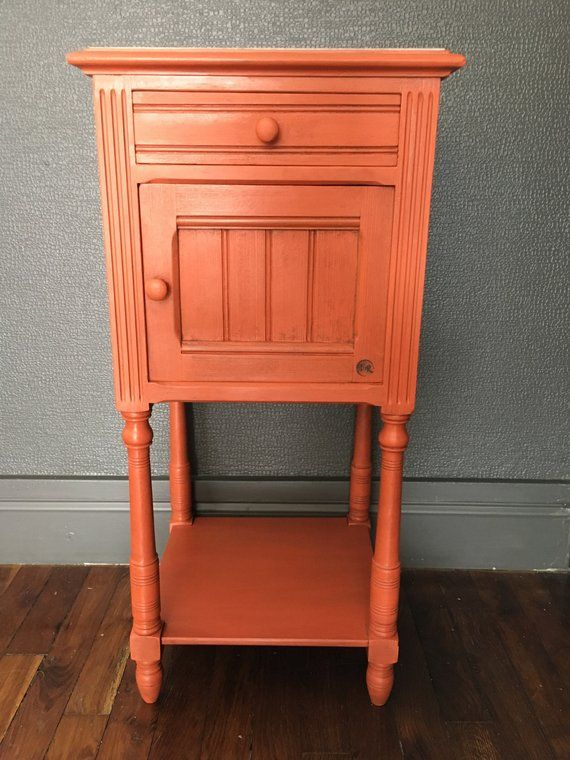 Chevet Meuble D Entree Orange Confite Entry Furniture Furniture Home Decor