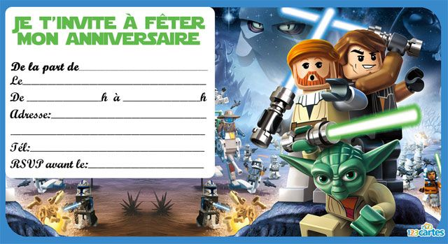 invitation lego star wars anniversaire maxence pinterest invitations lego et guerre. Black Bedroom Furniture Sets. Home Design Ideas