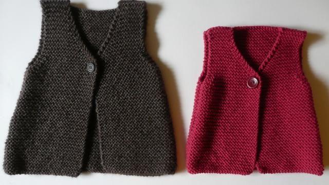 """Un gilet sans manches """"Camille"""" à tricoter ! Laissez-vous guider pas à pas dans la conception d'un gilet sans manches pour enfants (fille ou garçon)."""