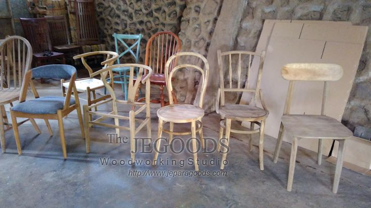Production and manufacturing of retro mid century chairs by Jepara Goods Woodworking Studio.  www.jeparagoods.com