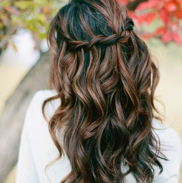 still not brave enough to try out the reds? Dark roots and low lights with caramel and/or chocolate or normal browns that are just a shade or two lighter than the roots seems to be a fave as well among those that prefer to stick to their dark roots