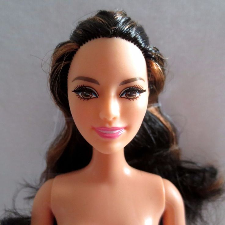 New Barbie Style Glam Luxe Raquelle Doll Fully Articulated Ankles Eyelashes Nude Barbie Nude