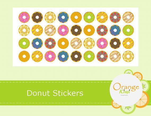 Fun Donut Stickers  Planner Stickers  Wedding by OrangeKiwiDesign
