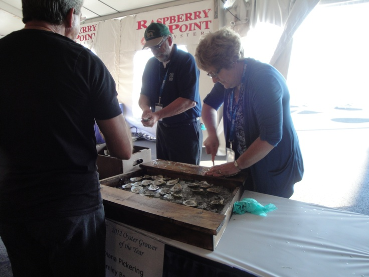 Oyster Shucking & tasting at the #PEI #International #Shellfish #Festival. www.fallflavours.ca