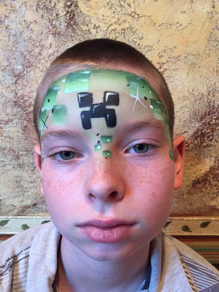 17 Best Images About Face Paint Minecraft On Pinterest