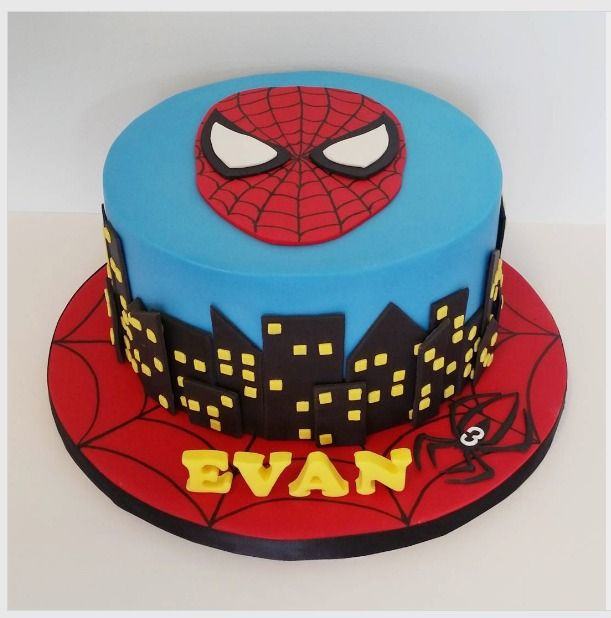 This as the base and the model spidy on top, the one with the webs