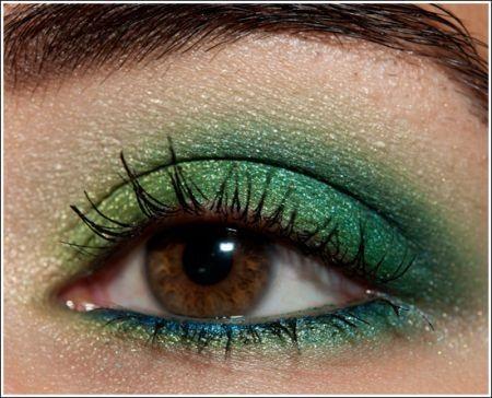 Trucco occhi verde blu chic