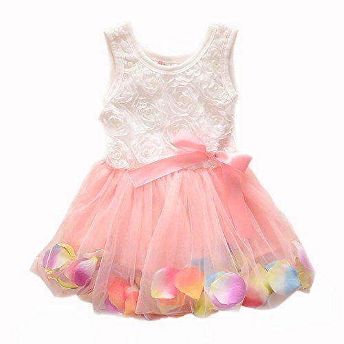 Metee Dresses Kids Girls Princess Rose Garden Flower Petal Lace Ruffled Tulle Skirts Dresses(XS(Advice 0.5-1 Years), Pink) ACEFAST INC http://www.amazon.com/dp/B010IK14FG/ref=cm_sw_r_pi_dp_0uQLvb18Z68EF