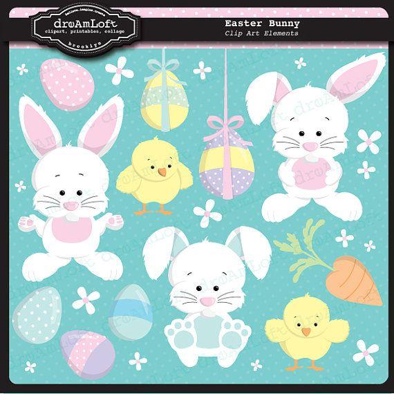 Easter Bunny Clip Art #easter #eggs #printable #clipart