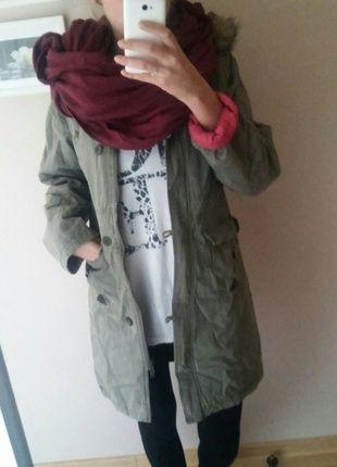 Kup mój przedmiot na #vintedpl http://www.vinted.pl/damska-odziez/plaszcze/10745638-zielono-rozowa-parka-z-kapturem-primark
