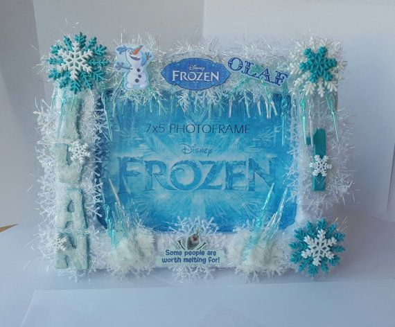 Unique #FrozenOlafDecor Picture Photo Frame by BlingFlowersAndCo