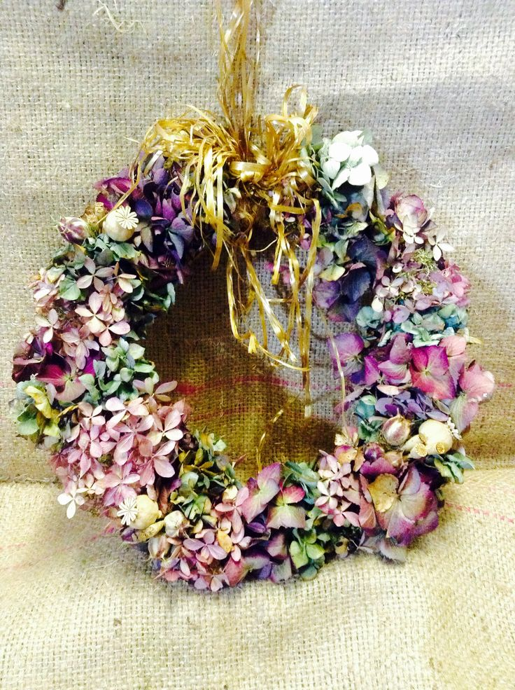 Dried hydrangea Wreath by Branch-out MK CIC