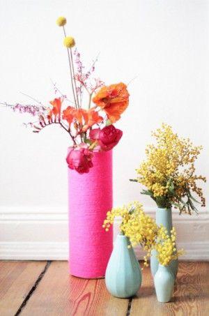 woll vasen zum selbermachen tolle bastelideen diy pinterest zimmer einrichten vasen und. Black Bedroom Furniture Sets. Home Design Ideas