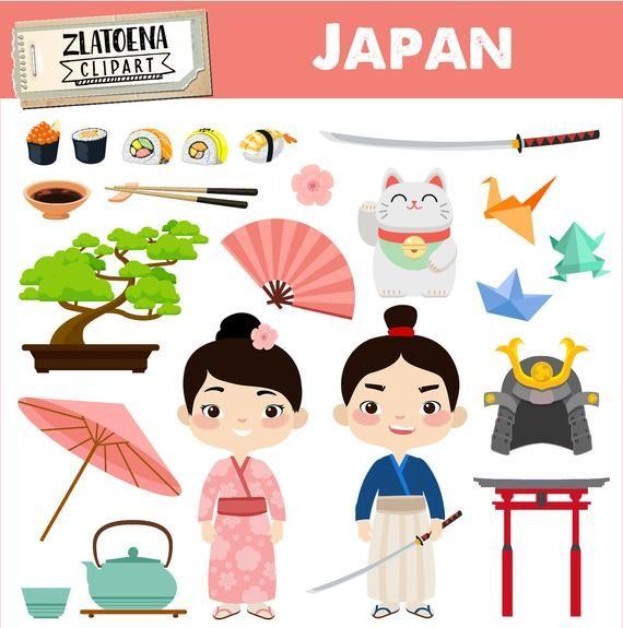 Japan Clipart Japanese Clip Art Geisha Samurai Clipart Asia Etsy In 2021 Clip Art Japan Travel Clipart