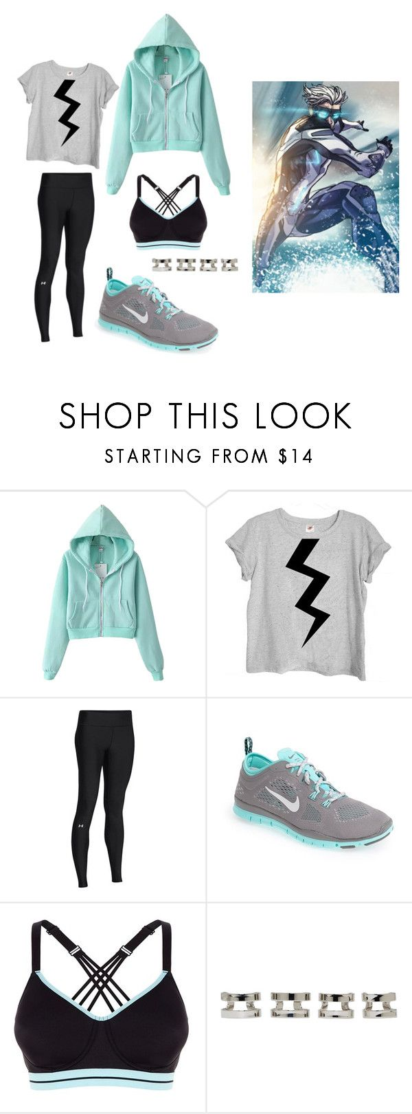 """Pietro Maximoff - Quicksilver (comics)"" by cynical-bonbons ❤ liked on Polyvore featuring мода, Under Armour, NIKE, Maison Margiela, marvel, athletic, CasualCosplay и quicksilver"