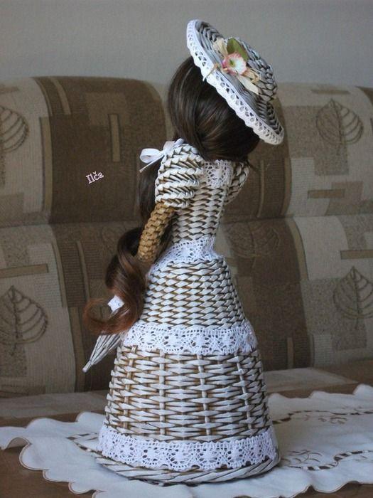 Плетение. Куколка из газетных трубочек (2) (525x700, 105Kb)