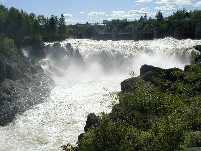 Wolastook Cataract (or Grand Falls), on the St. John (Wolastook) River, New Brunswick. Matt Hopkinson photo.