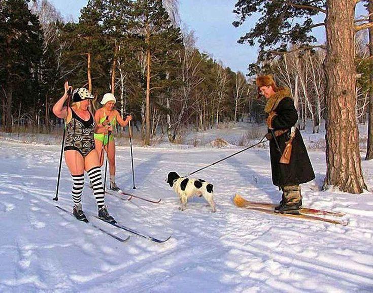 прикольные открытки фото лыжи сейчас здесь