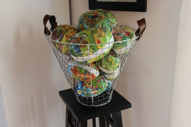 Remake a basket from an old lampshade.