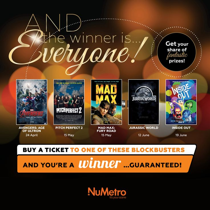 Catch one of these 5 blockbusters at Nu Metro this season and WIN. Guaranteed!