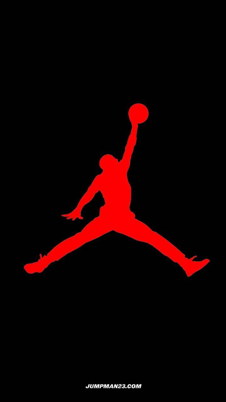 Red Jumpman Logo Jordan Logo Wallpaper Jumpman Logo Michael Jordan Art