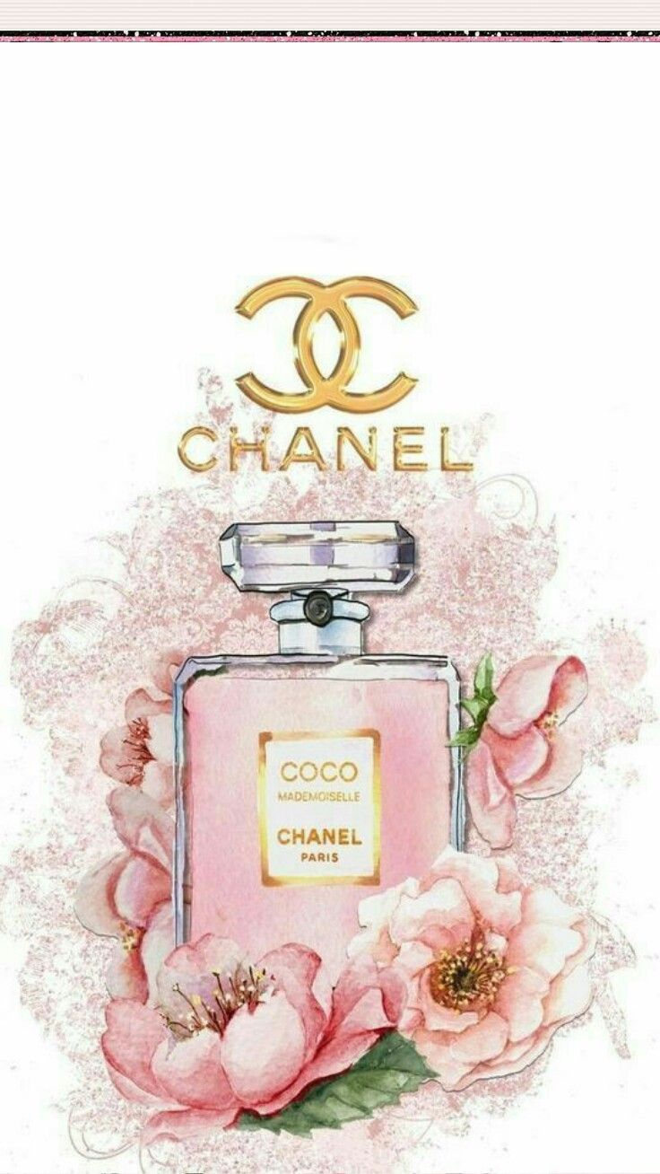 Wallpaper Iphone Preferat Chanel アート 香水 イラスト