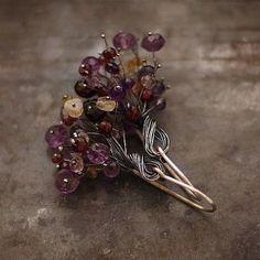 розы и фиалки - синий кобальт Ewa Lomp ювелирные изделия автора.