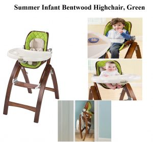 Check My Review On Summer Infant Bentwood Highchair In Green, A Compact,  Reclined,