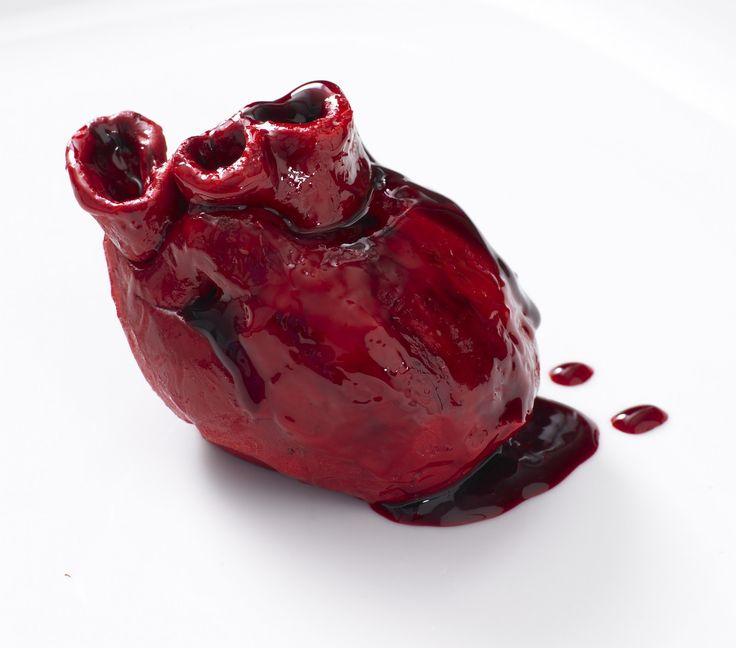 Bleeding heart cake! | weird, weird food | Pinterest