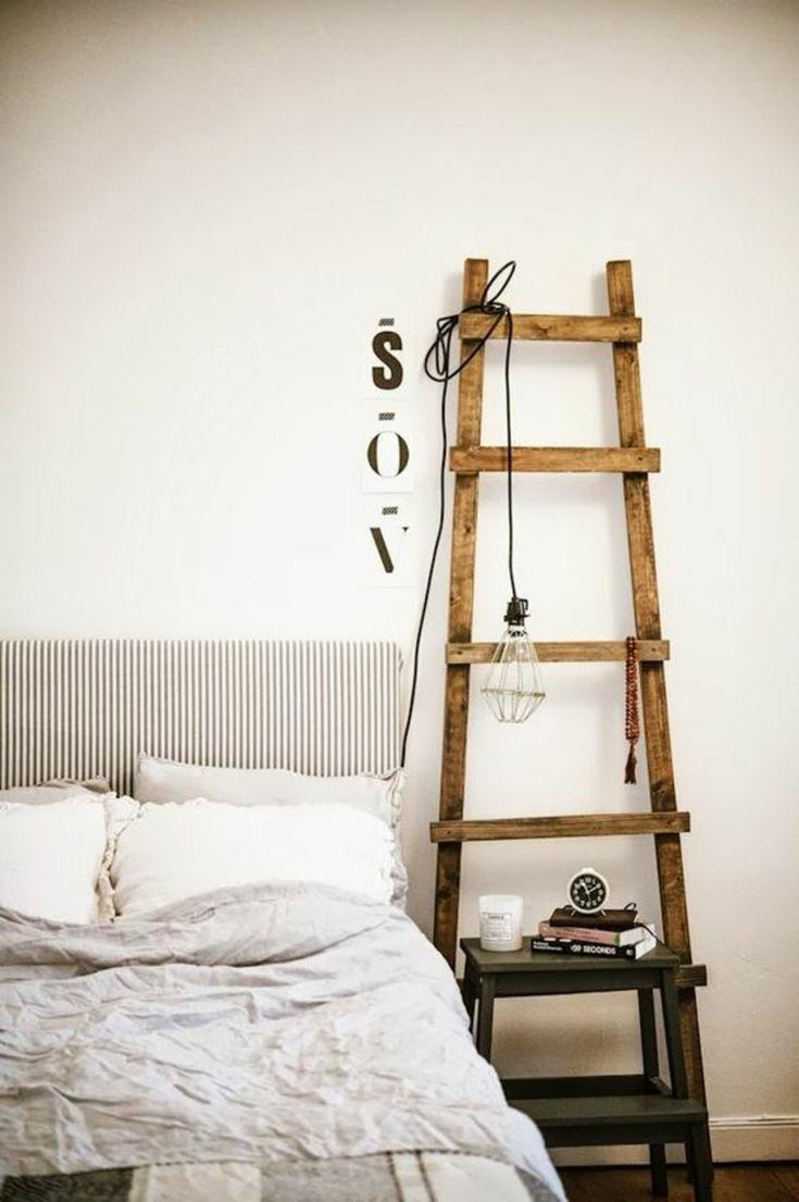 Die besten 25 holzleiter ideen auf pinterest shanty - Schlafzimmer nachttisch ...