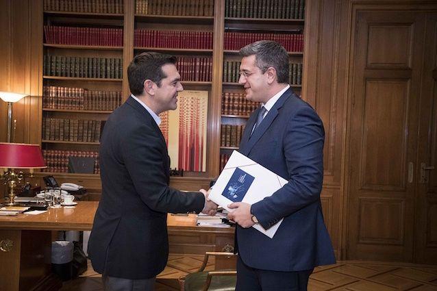 Τα ζητήματα της Περιφέρειας Κεντρικής Μακεδονίας έθεσε στον Πρωθυπουργό Αλέξη Τσίπρα, ο Περιφερειάρχης Κεντρικής Μακεδονίας Απόστολος Τζιτζικώστας