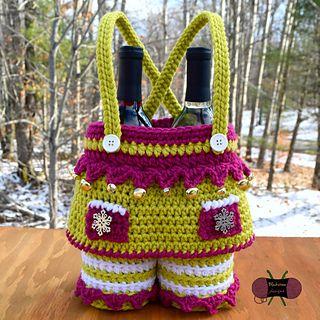 Elf Girl Gift Basket crochet pattern from Blackstone Designs #crochet #christmas