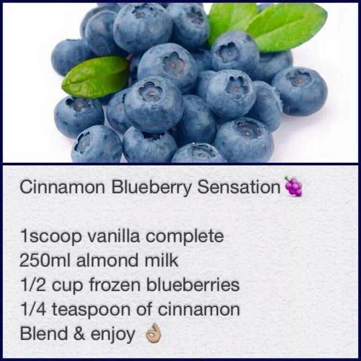 Cinnamon blueberry sensation