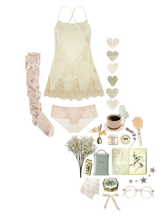 """""""Sunday Morning"""" by dollydust ❤ liked on Polyvore featuring La Fée Verte, Burt's Bees, Elle Macpherson Intimates, Aerie, Garden Trading, Addison, Retrò, Moleskine, Balcony and Bed and Chandelier"""