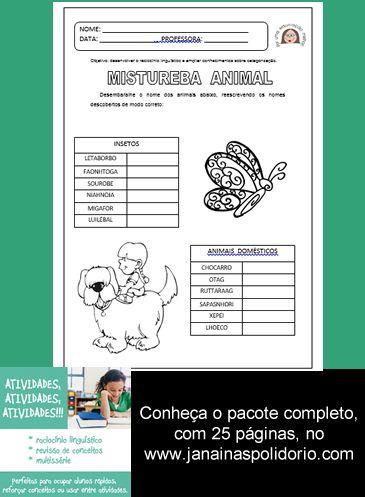 Pacote incrível com 25 páginas de atividades que vão levar o raciocínio de seus alunos a um novo nível! Confira no link http://www.janainaspolidorio.com/atividades-atividades-atividades.html