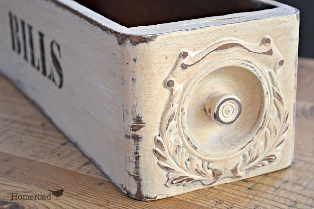 Beautiful Bill Holder painted in Pure White Chalk Paint® by Annie Sloan