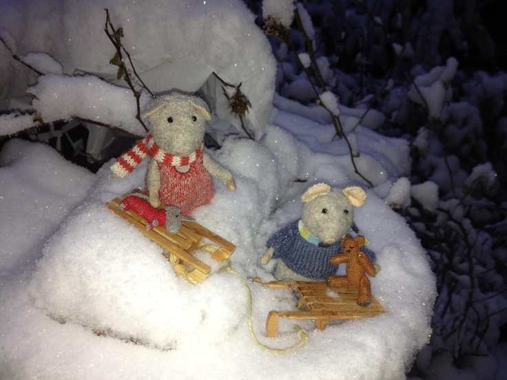 Lekker spelen in de sneeuw