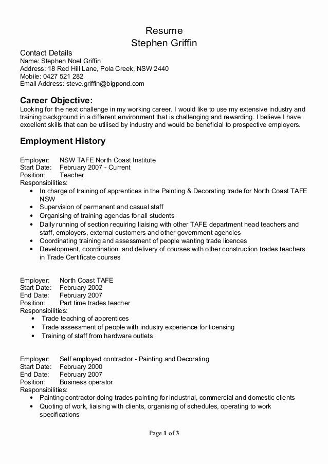 self employed contractor resume beautiful resume in 2020