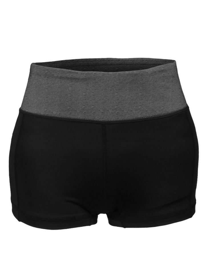 LE3NO Womens Fitted Active Workout Yoga Shorts with Stretch