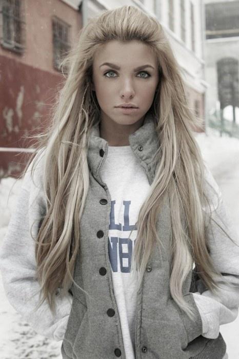 Long hair blonde