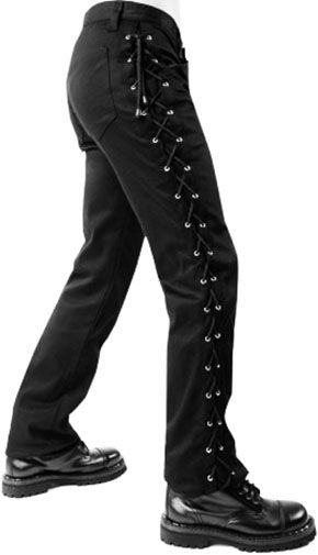 Ipso Facto Men's Gothic, Industrial, Steampunk, Punk, Cosplay Pants