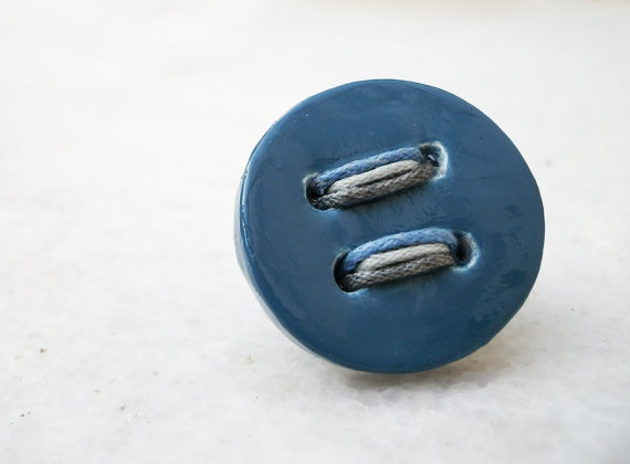 medium blue button ring  from the button up collection of by Joogr, €17.00