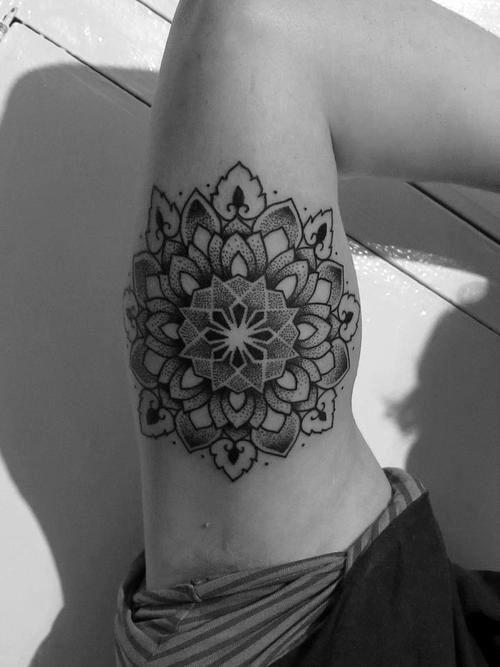 * tattoo. Inner arm mandala
