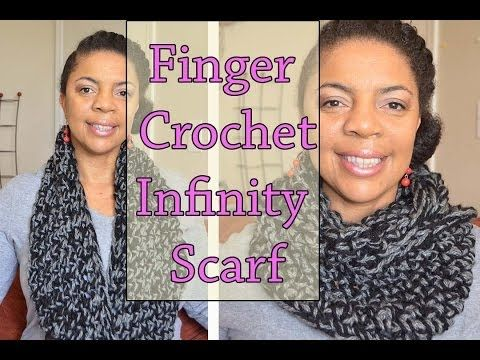 How To Finger Crochet - 1 Hour Infinity Circle Scarf - YouTube
