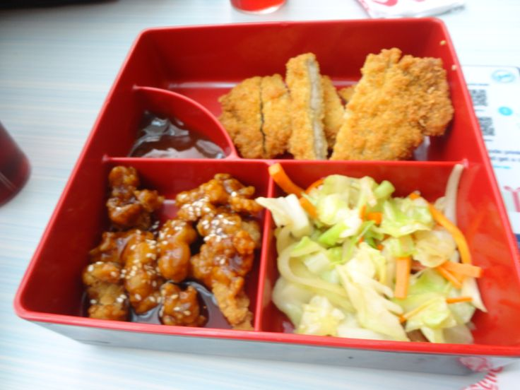 Breaded Chicken Cutlet, Honey Barbecue Pork and Stir Fired Veggies @ Tokyo Tokyo, Southmall
